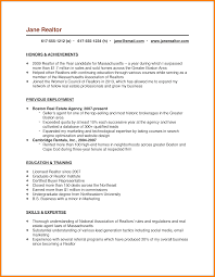 Realtor Resume Examples Real Estate Agents Resume Resumepleasant