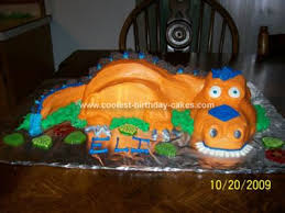 Coolest Orange T Rex Dinosaur Cake