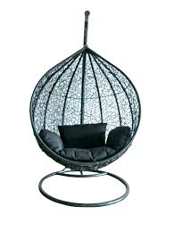outdoor wicker swing chair egg furniture hanging rattan black patio w outdoor wicker swing
