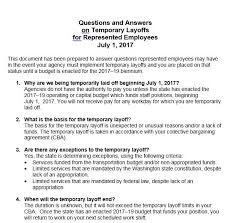 Temporary Layoff Letter