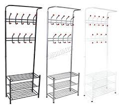 Shoe Coat And Hat Racks Shoe Rack Shoe Organizer Bench Coat Hat Rack Metal Entryway Storage 44