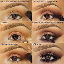 brown purple smokey eye pictorial
