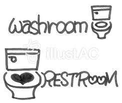 トイレの英語表示 手描きイラスト No 908737無料イラストなら