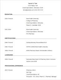 Template Of Resume Mesmerizing Sample Pharmacist Resume Template Make Photo Gallery Download Resume