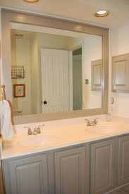 Bathroom-Benjamin Moore Rockport Gray on the cabinets and mirror ...