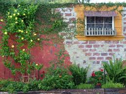 outdoor brick wall decor unique brick wall garden designs decorating ideas