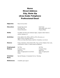 Resume Templates For Highschool Students No Experience Examples Job