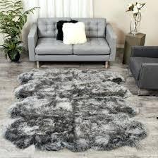 grey extra large sheepskin rug 8 pelt ft gray light rugs c