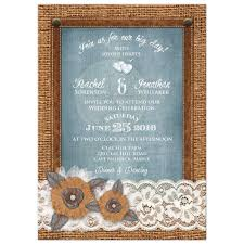 Burlap And Lace Wedding Invitations Rustic Wedding Invitation Burlap And Lace Denim Leather Metal