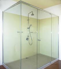 mode kolor semi frameless shower screen bathroom ensuite yellow glass