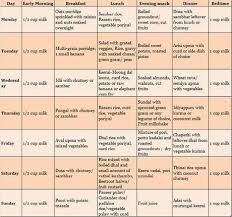 South Indian Pure Vegetarian Food Chart For 2 Year Old In