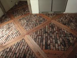 Recycled Leather Floor Tiles Brick Pavers For Kitchen Flooring Ungrouted Brick Veneer Faces