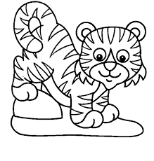 Small Picture Tiger Coloring Pages For Kids Printable