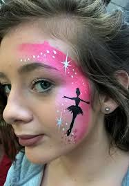 girl face painting girly