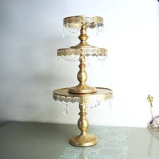 gold cupcake stands gold cake stand metal iron crystal pendant cupcake stand awesome iron cake