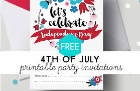 4th of july party invitation 4th of july free printable