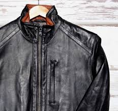 michael kors men s genuine leather jacket black size small new nwt msrp 595