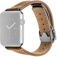 monowear deployant leather band for 42mm apple watch brown space gray hardware