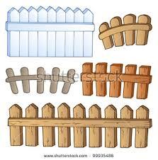 Cartoon Fences Collection  Vector Illustration  Shutterstock