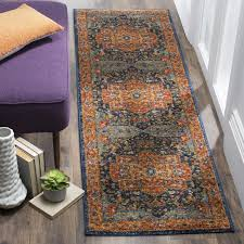 blue and orange rug with evoke area reviews allmodern decorations 5