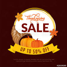 Thanksgiving Sale Template Or Flyer Design With 50 Discount