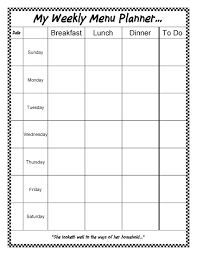A Gift For You An Editable Weekly Menu Planner Sheri