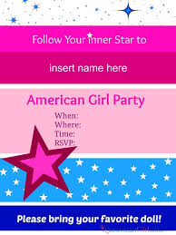 american girl party invitations american girl ideas american american girl party invitations