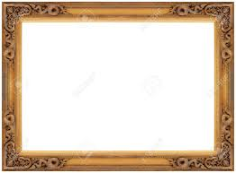gold wood frame popular vintage wooden picture isolated on white background stock in 4
