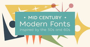 The sans serif set is neat and clean with different style. Mid Century Modern Fonts Inspired By The 50s And 60s Creative Market Blog