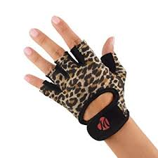 weight lifting gym gloves for women leopard print x small mellie