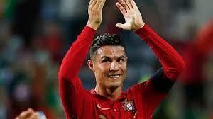Cristiano Ronaldo celebrates his Guinness World Record