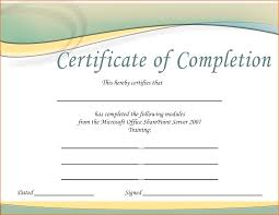 Brilliant Ideas Of Free Training Certificate Template With