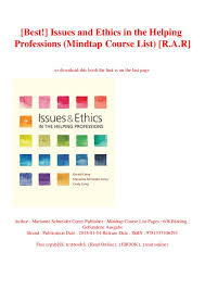 Best Professions Best Issues And Ethics In The Helping Professions Mindtap