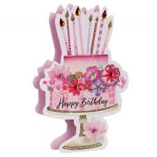 Happy Birthday Cake 3d Card Temptation Gifts