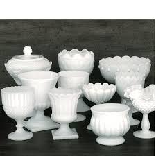 milk glass pedestal bowl designs