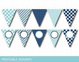 Blank Birthday Banner Blue Party Banner Blue Banner Blue Birthday Banner Blue