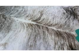 grey brindle cowhide rug