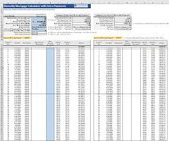 Free Excel Mortgage Calculator Biweekly Mortgage Calculator With Extra Payments Free Excel Template