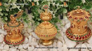 Gold Kumkum Box Designs With Price Gold Kumkum Box Latest Jewelry Designs Gold Plated Puja Items With Price Gold Kumkum Box