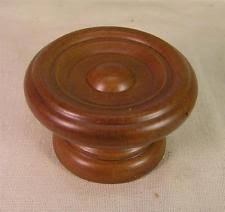 wood furniture knobs. 6 vintage style cherry stained wood knobs pulls cabinet furniture hardware