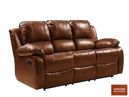 valencia real leather sofa tan recliner 3 seater