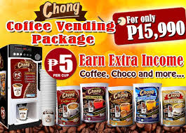 Coffee Vending Machine Business Enchanting Chong Cafe Hot Vending Machine Business Package Chong Cafe Phils