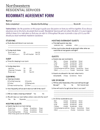 Roommate Agreement Contracts Free 15 Roommate Agreement Examples In Pdf Google Docs