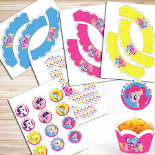 diy birthday banner ideas awesome my little pony party diy kit my little pony decorations my