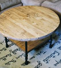 reclaimed wood round coffee table with shelf home furniture reclaimed wood coffee table round in
