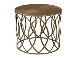 Furniture: Metal Drum Accent Table Best Of Antique Gold Finish Round Metal Accent  Table -