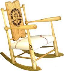 baseball bat rocking chair