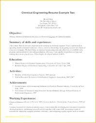 Example Engineering Resume Awesome Resume Draft Magnificent Chemical Engineer Resume Sample Nanomedia