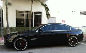 Coupe Series 2008 bmw 750 : Black BMW 750 with black custom rims - Miami Beach | Exotic Cars ...