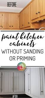 learn how to paint kitchen cabinets without sanding or priming yes it is possible and durable